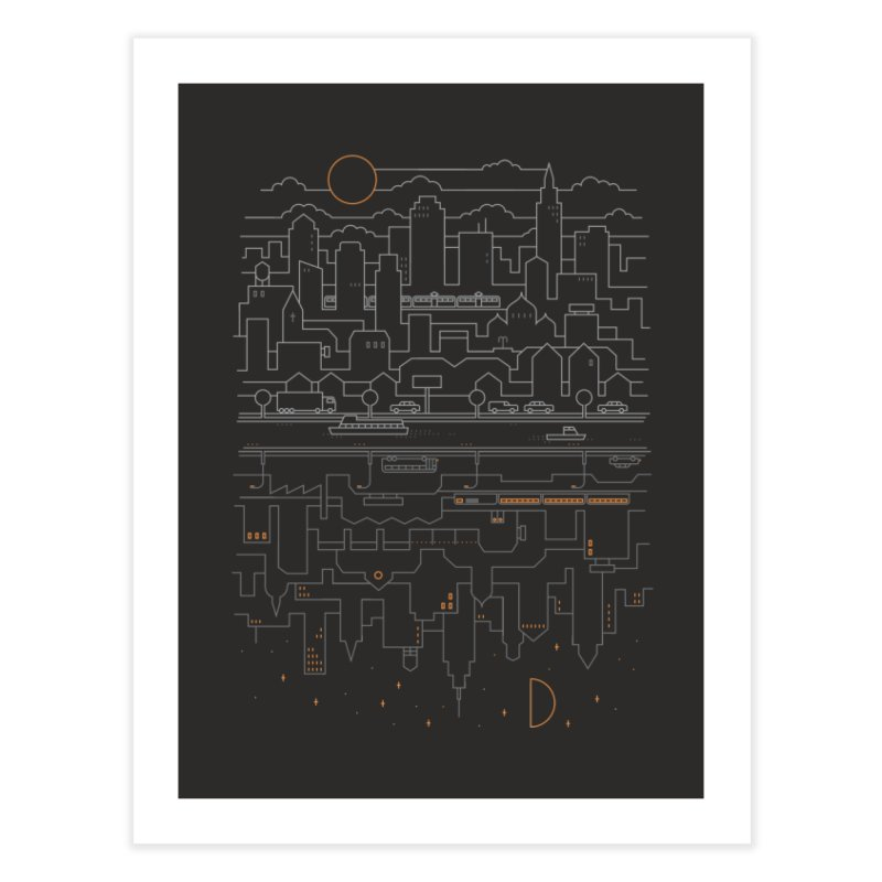 City 24 Home Fine Art Print by thepapercrane's shop