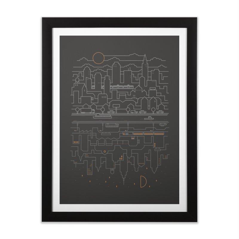 City 24 Home Framed Fine Art Print by thepapercrane's shop