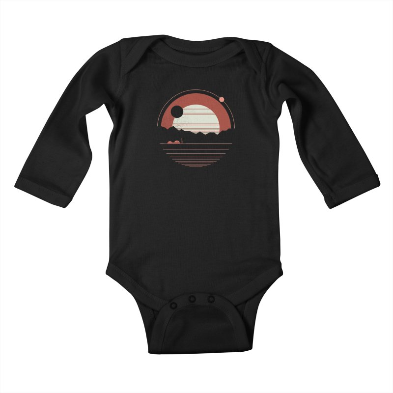 Solitude Kids Baby Longsleeve Bodysuit by thepapercrane's shop