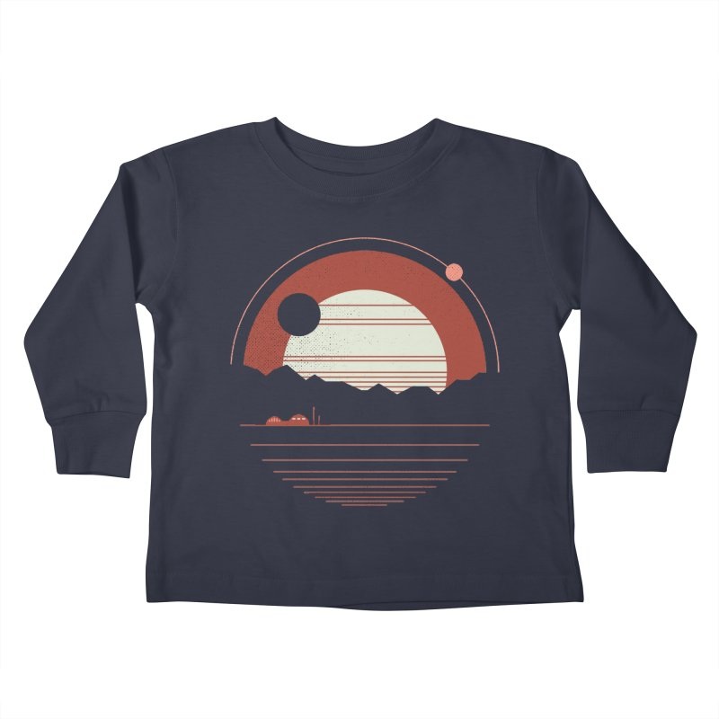 Solitude Kids Toddler Longsleeve T-Shirt by thepapercrane's shop