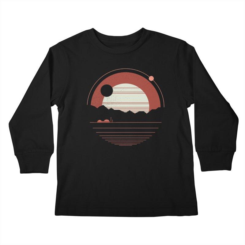 Solitude Kids Longsleeve T-Shirt by thepapercrane's shop
