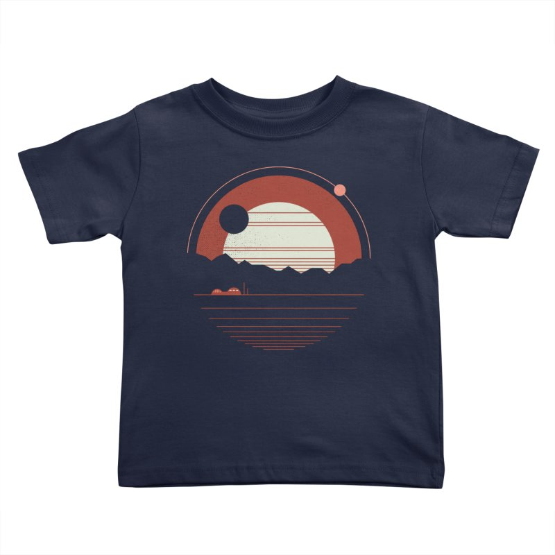 Solitude Kids Toddler T-Shirt by thepapercrane's shop