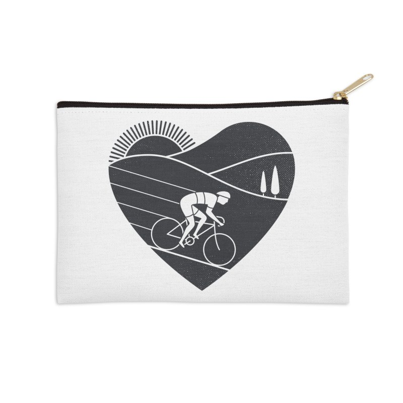 Love Cycling Accessories Zip Pouch by thepapercrane's shop