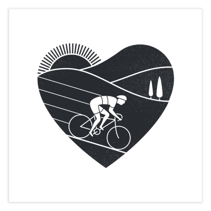 Love Cycling Home Fine Art Print by thepapercrane's shop