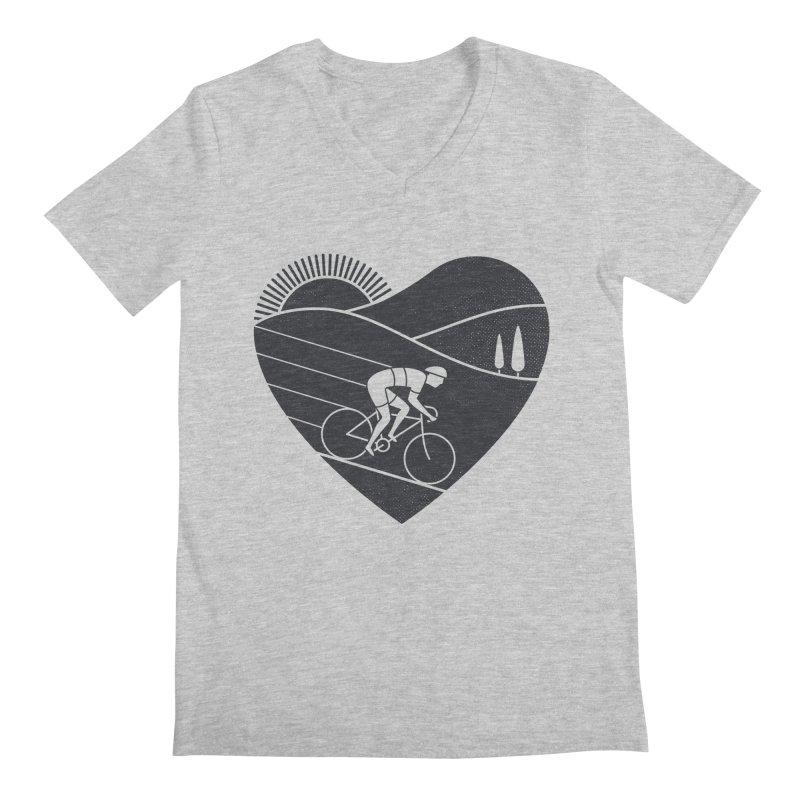 Love Cycling Men's V-Neck by thepapercrane's shop