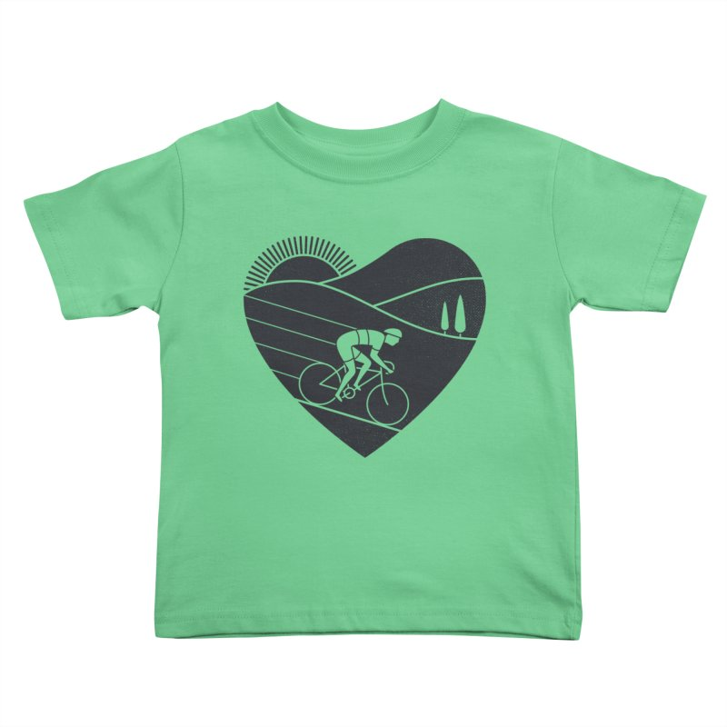 Love Cycling Kids Toddler T-Shirt by thepapercrane's shop