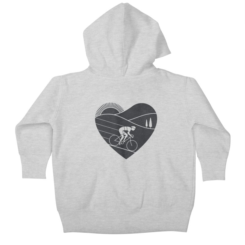 Love Cycling Kids Baby Zip-Up Hoody by thepapercrane's shop