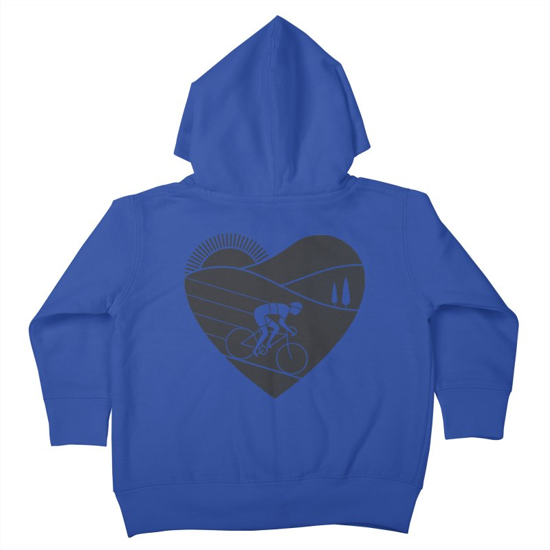 Love Cycling Kids Toddler Zip-Up Hoody by thepapercrane's shop