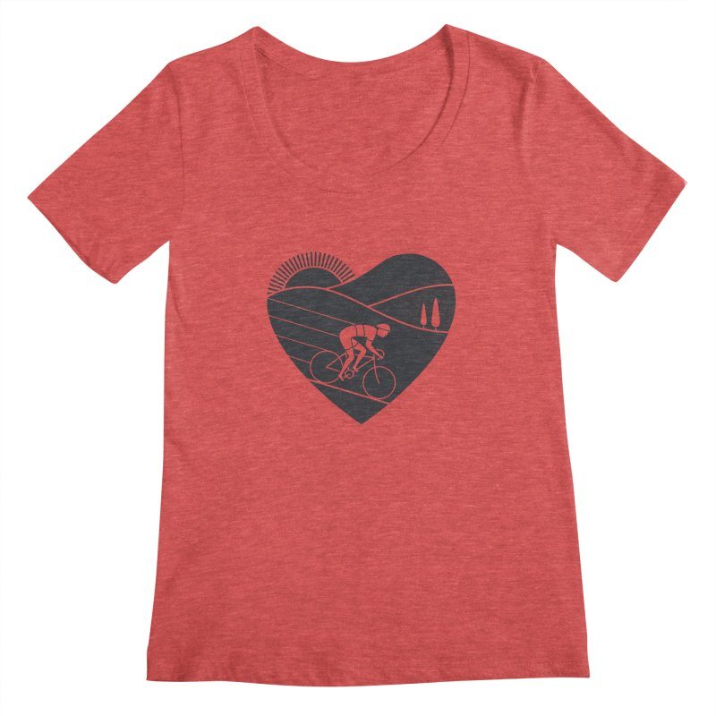 Love Cycling Women's Scoopneck by thepapercrane's shop