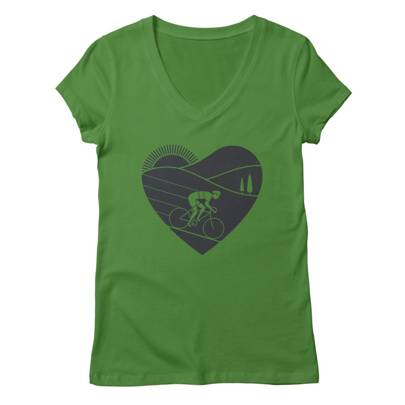 Love Cycling Women's V-Neck by thepapercrane's shop