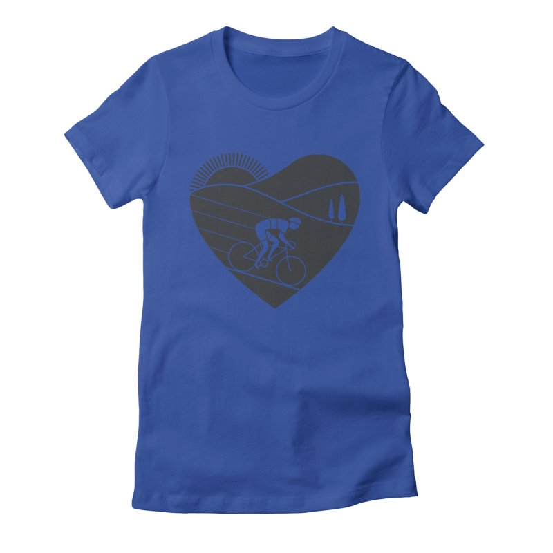 Love Cycling Women's Fitted T-Shirt by thepapercrane's shop