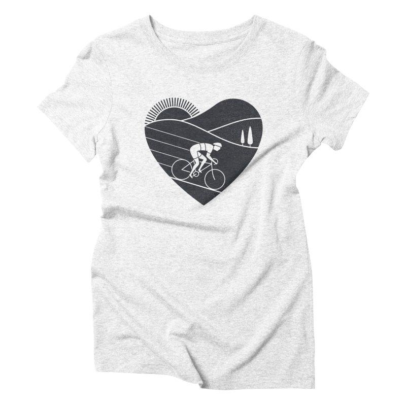 Love Cycling Women's Triblend T-shirt by thepapercrane's shop
