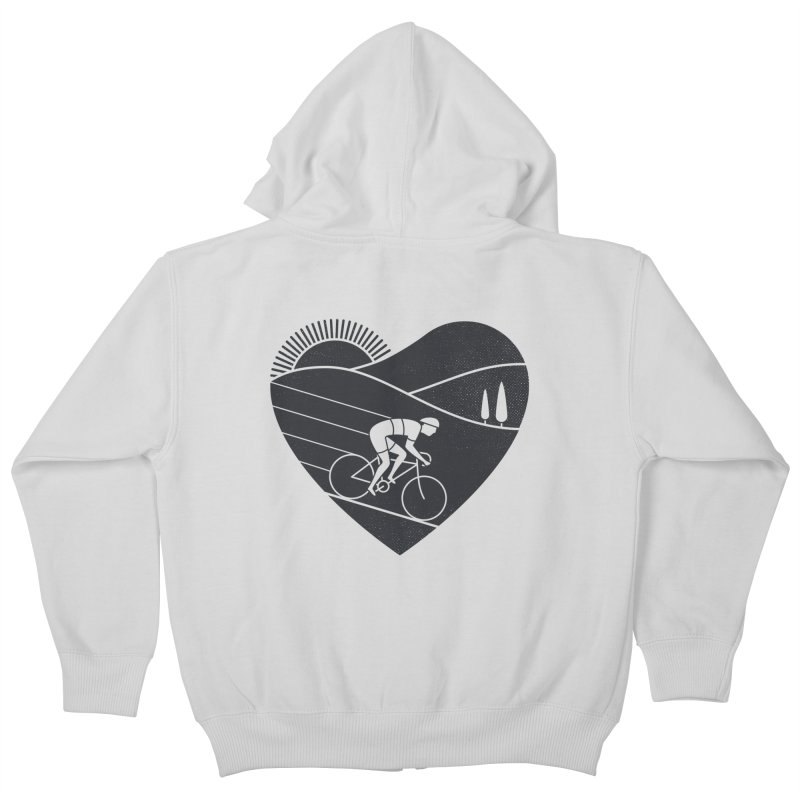 Love Cycling Kids Zip-Up Hoody by thepapercrane's shop