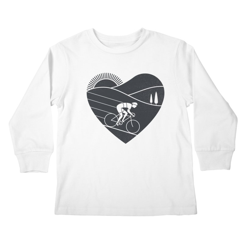Love Cycling Kids Longsleeve T-Shirt by thepapercrane's shop
