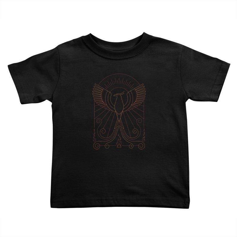 Bird of Fire Kids Toddler T-Shirt by thepapercrane's shop