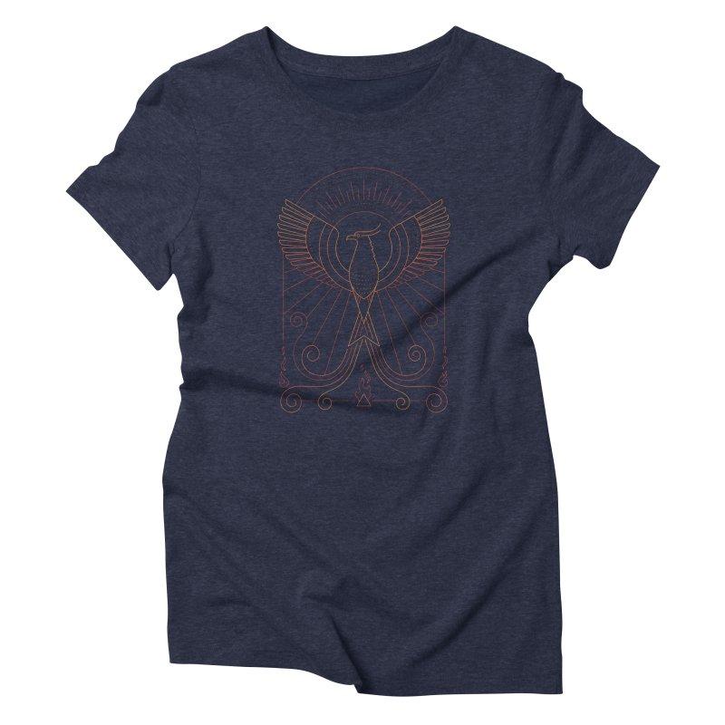 Bird of Fire Women's T-Shirt by thepapercrane's shop