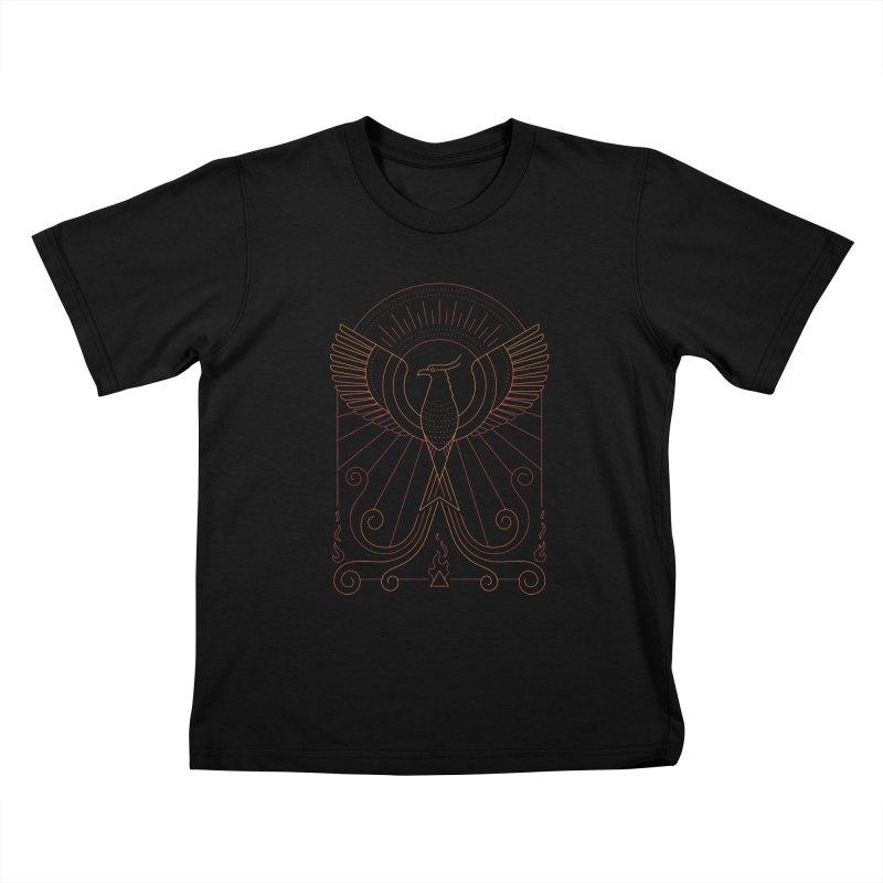 Bird of Fire Kids T-Shirt by thepapercrane's shop