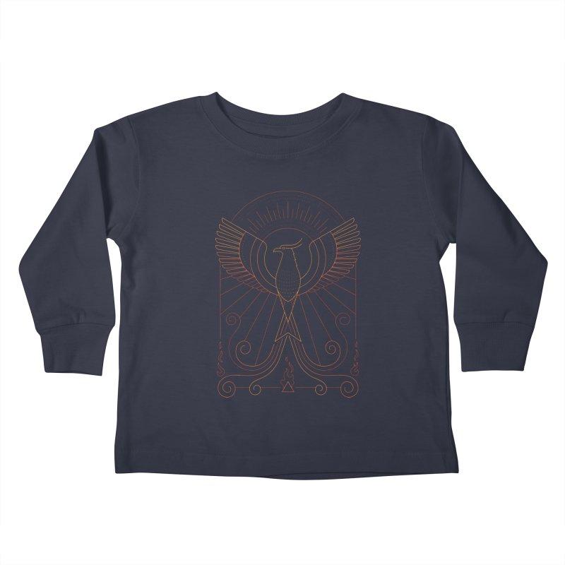 Bird of Fire Kids Toddler Longsleeve T-Shirt by thepapercrane's shop
