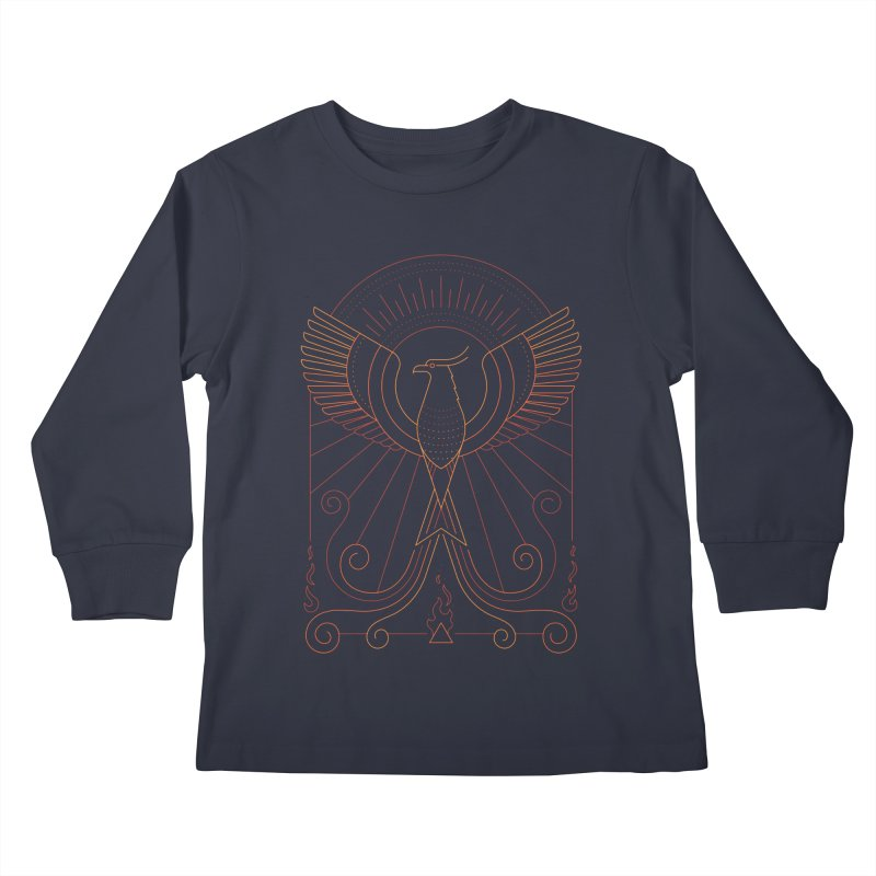 Bird of Fire Kids Longsleeve T-Shirt by thepapercrane's shop