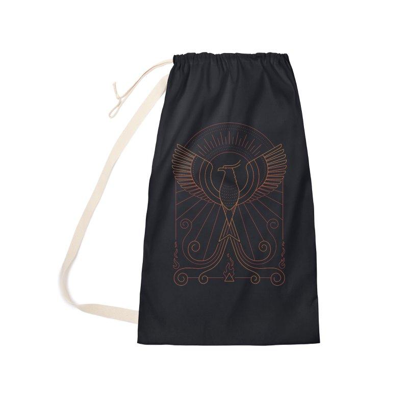 Bird of Fire Accessories Bag by thepapercrane's shop