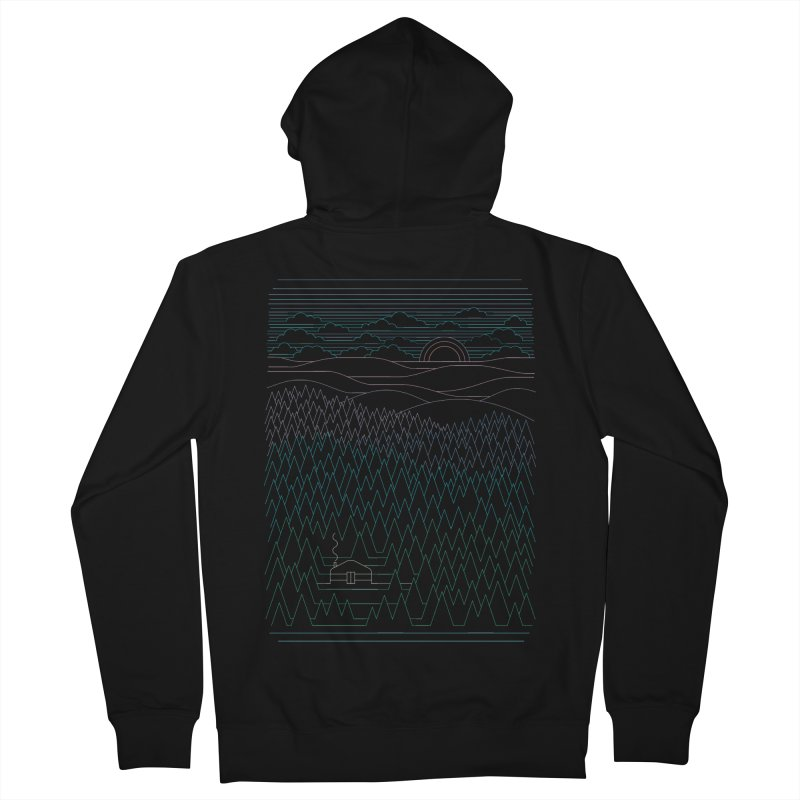 The Little Clearing Men's Zip-Up Hoody by thepapercrane's shop