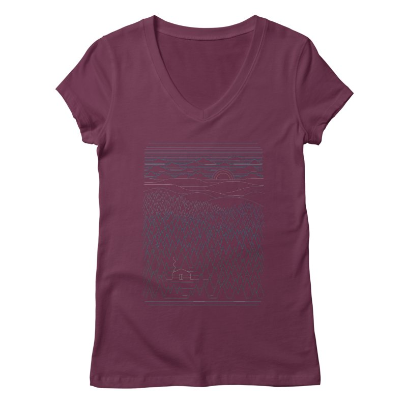 The Little Clearing Women's V-Neck by thepapercrane's shop