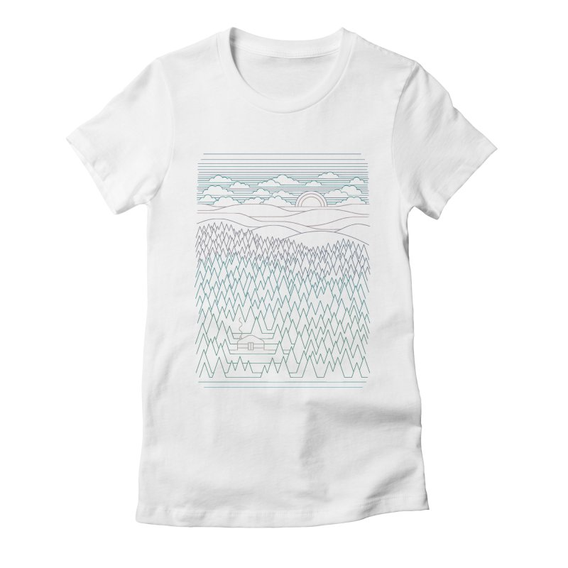 The Little Clearing Women's Fitted T-Shirt by thepapercrane's shop