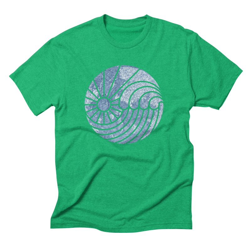 Sea of Serenity Men's Triblend T-shirt by thepapercrane's shop