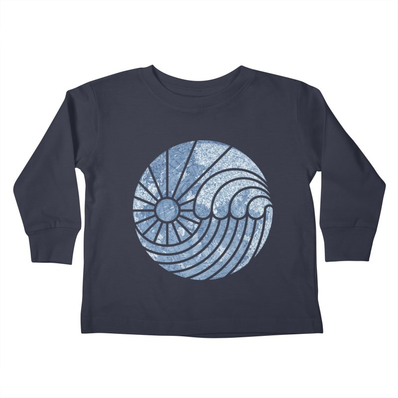 Sea of Serenity Kids Toddler Longsleeve T-Shirt by thepapercrane's shop