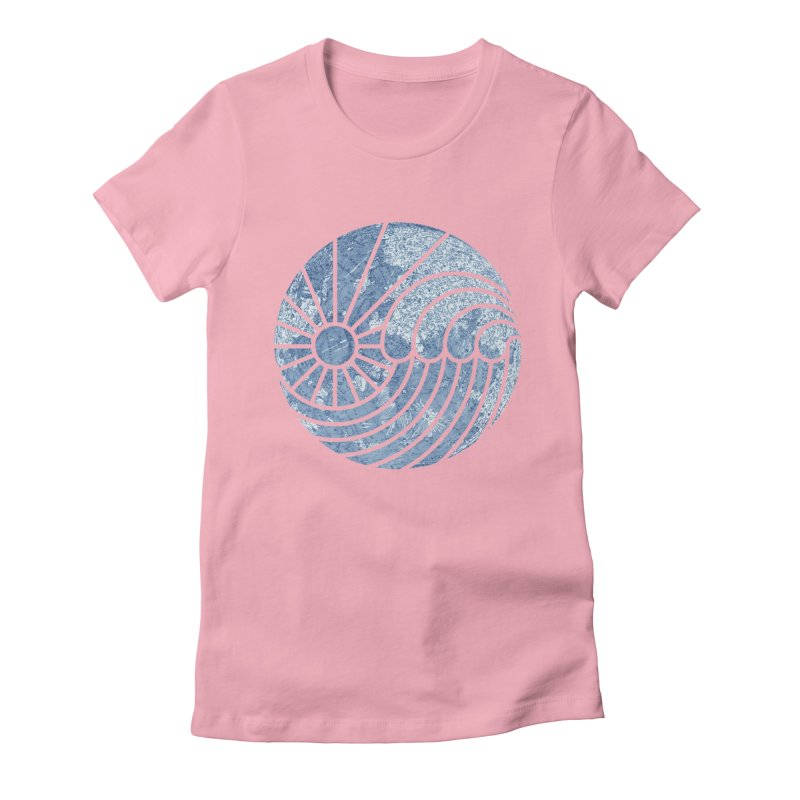 Sea of Serenity Women's Fitted T-Shirt by thepapercrane's shop