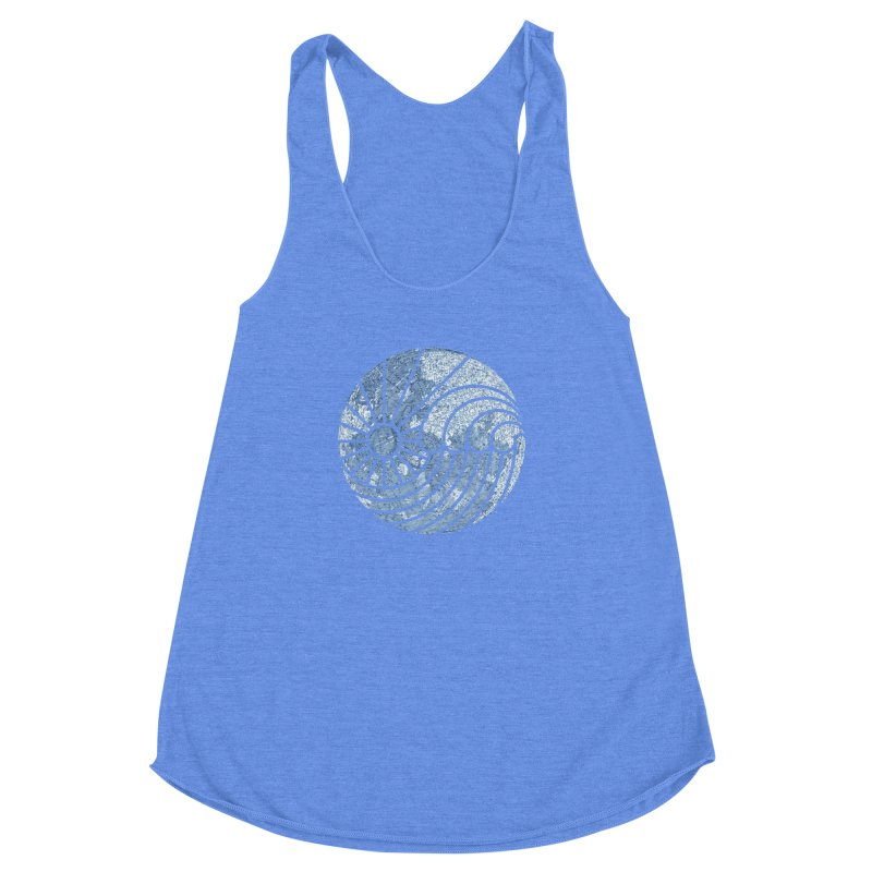 Sea of Serenity Women's Racerback Triblend Tank by thepapercrane's shop