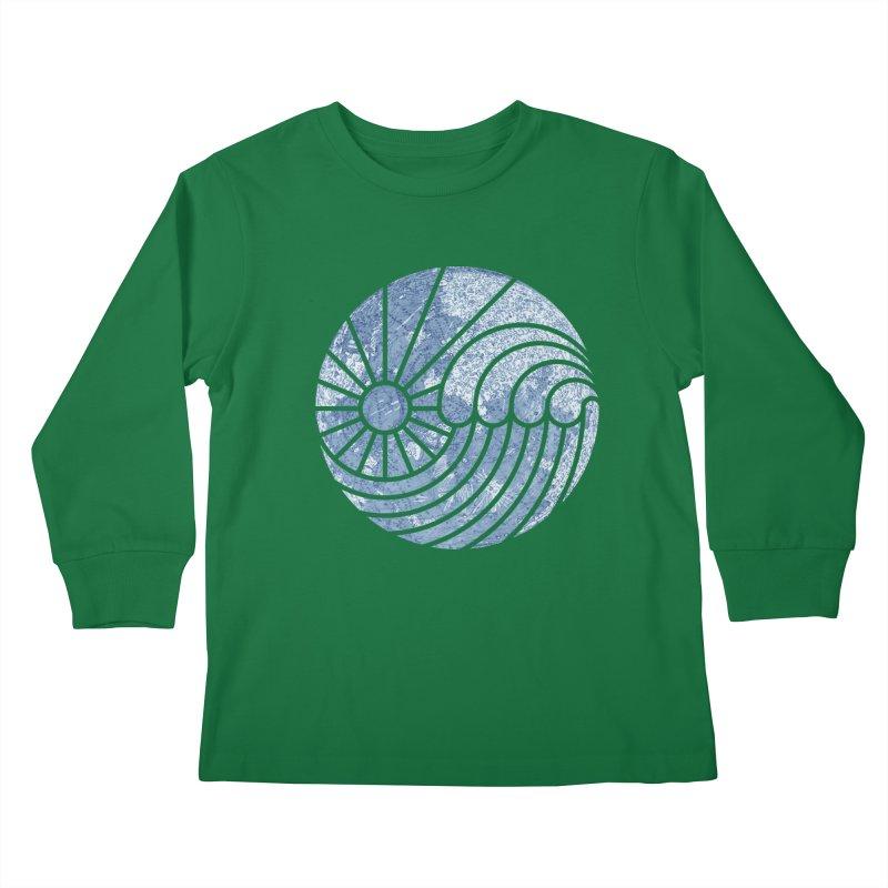 Sea of Serenity Kids Longsleeve T-Shirt by thepapercrane's shop