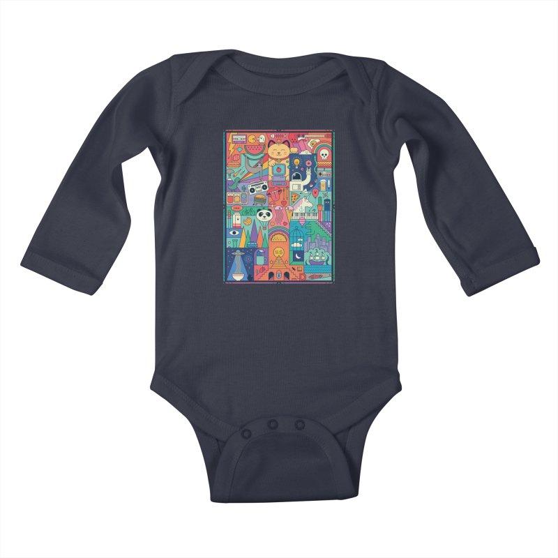 The Big Tee Kids Baby Longsleeve Bodysuit by thepapercrane's shop