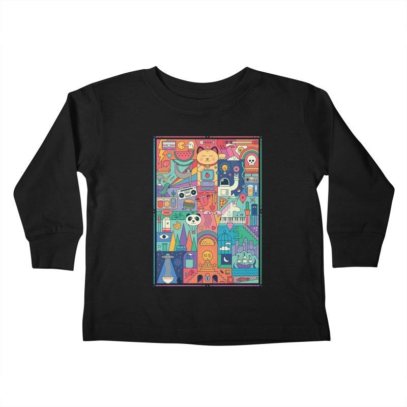 The Big Tee Kids Toddler Longsleeve T-Shirt by thepapercrane's shop