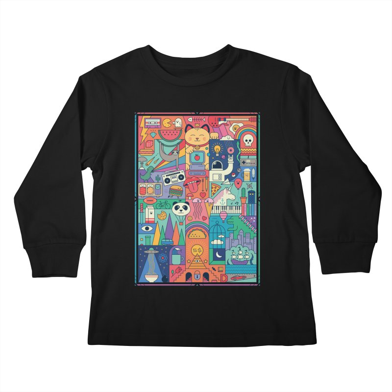 The Big Tee Kids Longsleeve T-Shirt by thepapercrane's shop