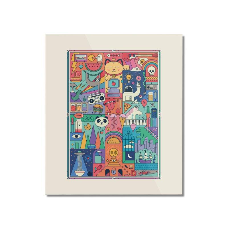 The Big Tee Home Mounted Acrylic Print by thepapercrane's shop