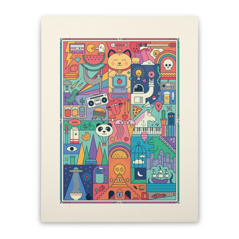 The Big Tee Home Stretched Canvas by thepapercrane's shop
