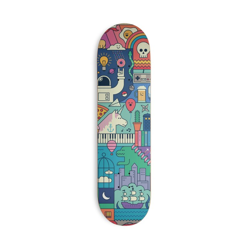 The Big Tee Accessories Skateboard by thepapercrane's shop