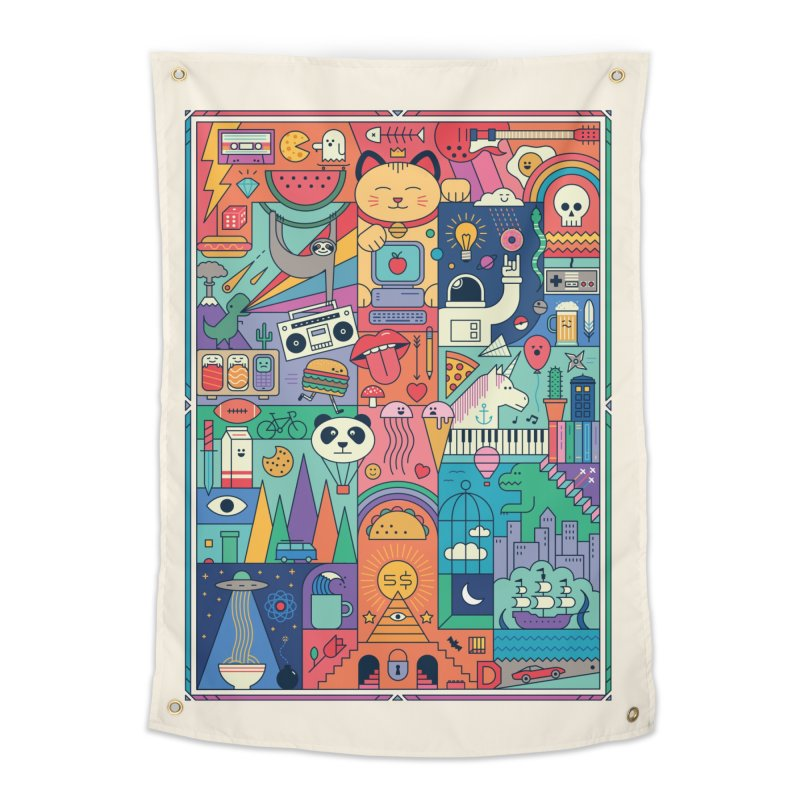 The Big Tee Home Tapestry by thepapercrane's shop