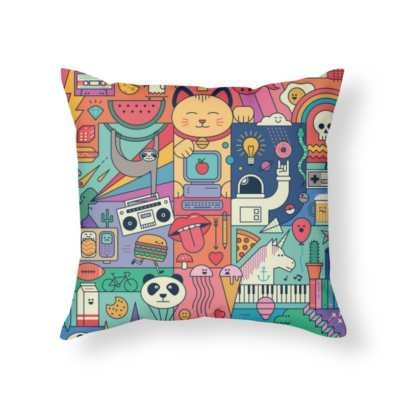 The Big Tee Home Throw Pillow by thepapercrane's shop