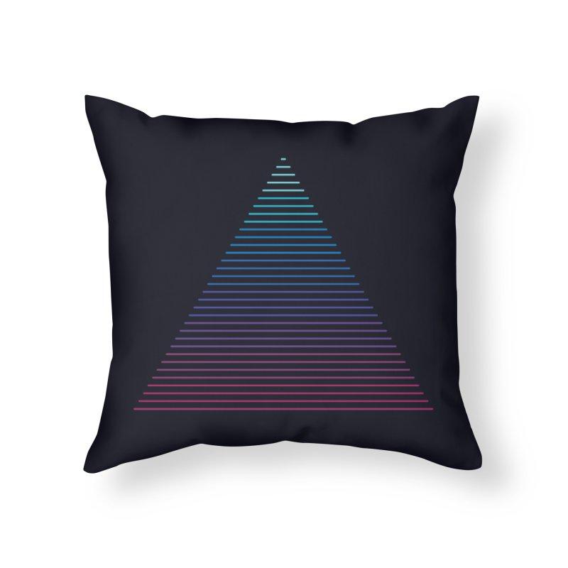 Neon Strata Home Throw Pillow by thepapercrane's shop