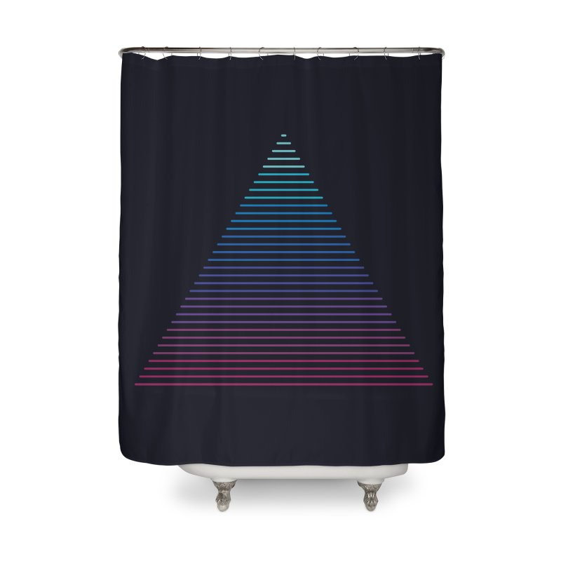 Neon Strata Home Shower Curtain by thepapercrane's shop