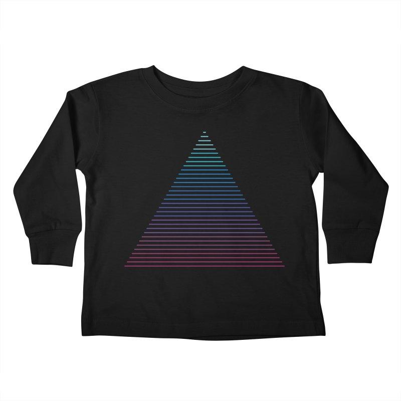 Neon Strata Kids Toddler Longsleeve T-Shirt by thepapercrane's shop