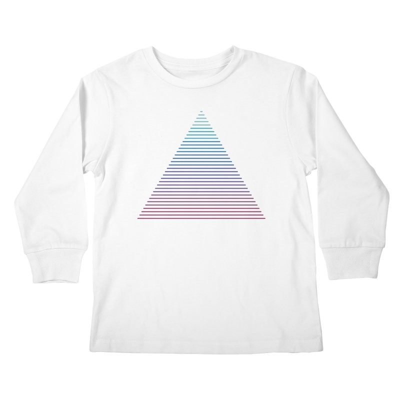 Neon Strata Kids Longsleeve T-Shirt by thepapercrane's shop