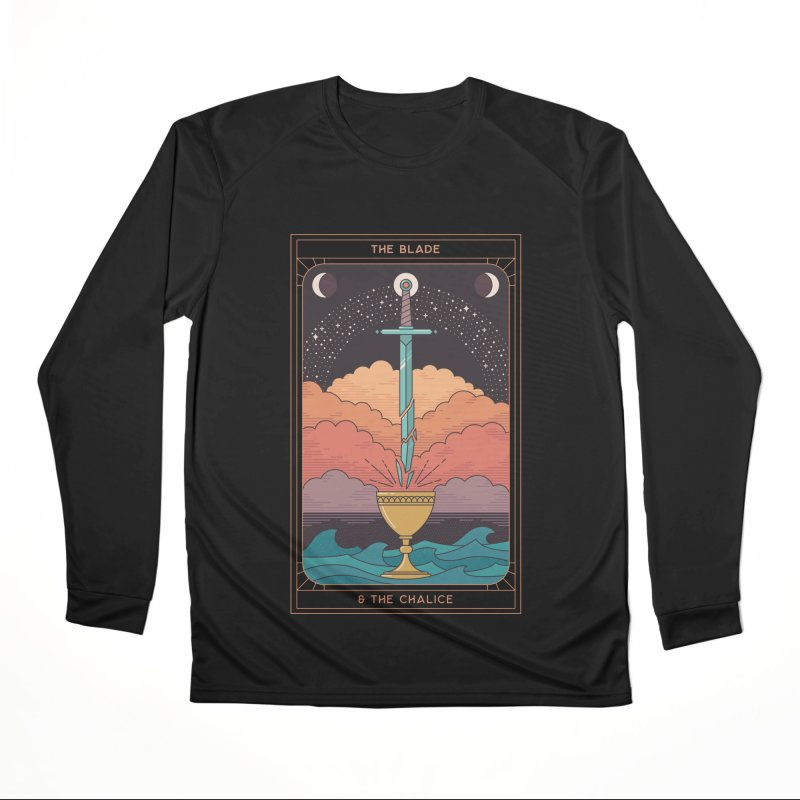 The Blade And The Chalice Men's Longsleeve T-Shirt by thepapercrane's shop
