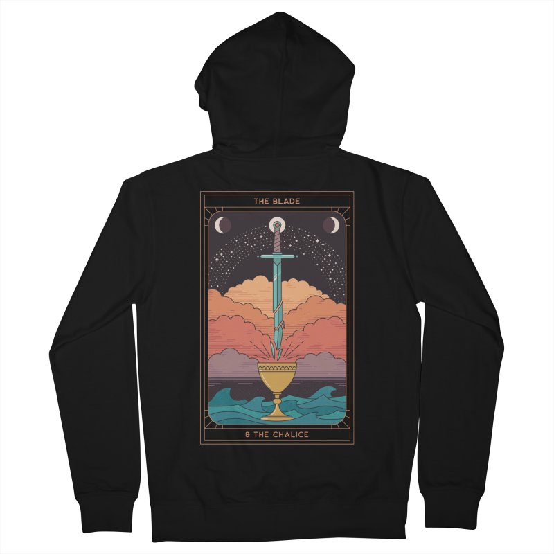 The Blade And The Chalice Women's Zip-Up Hoody by thepapercrane's shop