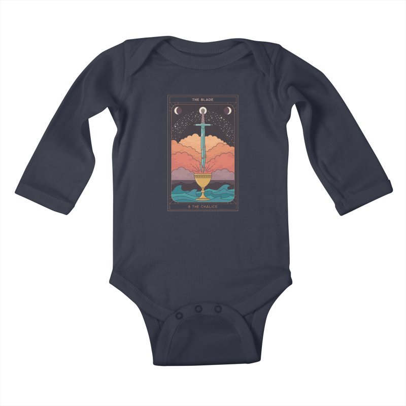 The Blade And The Chalice Kids Baby Longsleeve Bodysuit by thepapercrane's shop