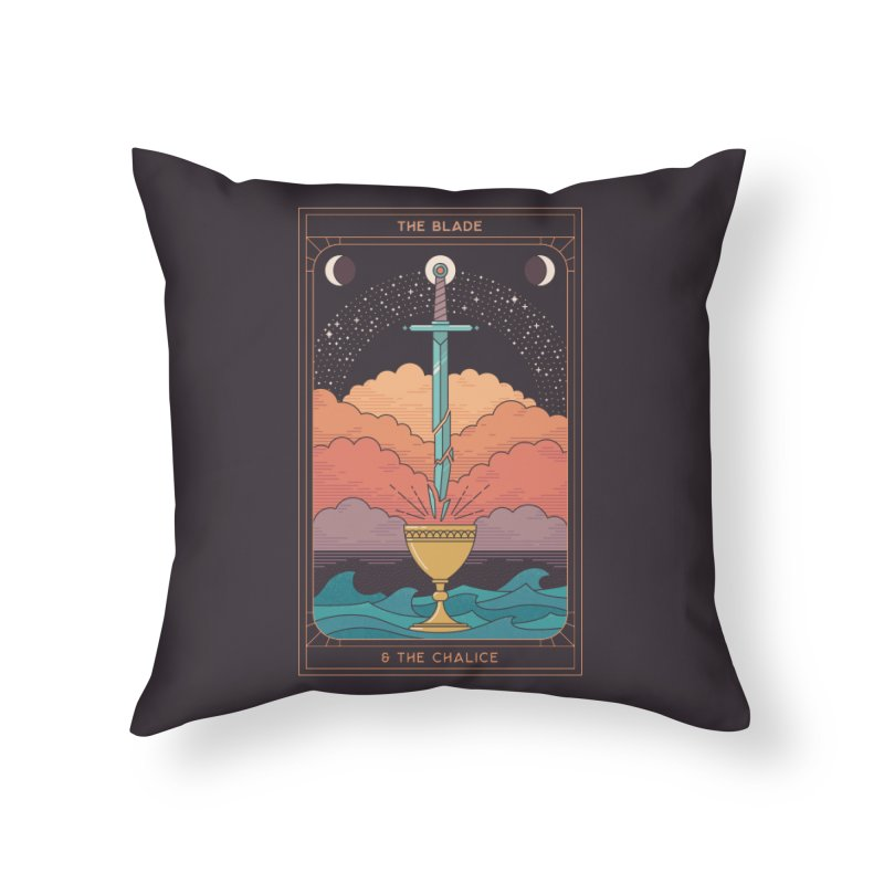 The Blade And The Chalice Home Throw Pillow by thepapercrane's shop