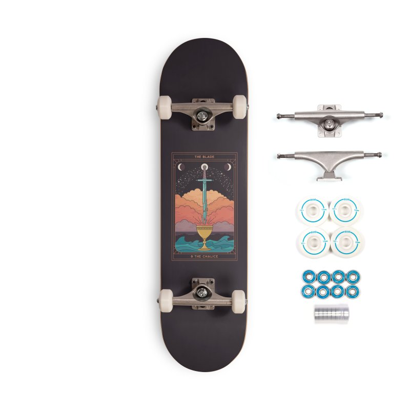 The Blade And The Chalice Accessories Skateboard by thepapercrane's shop