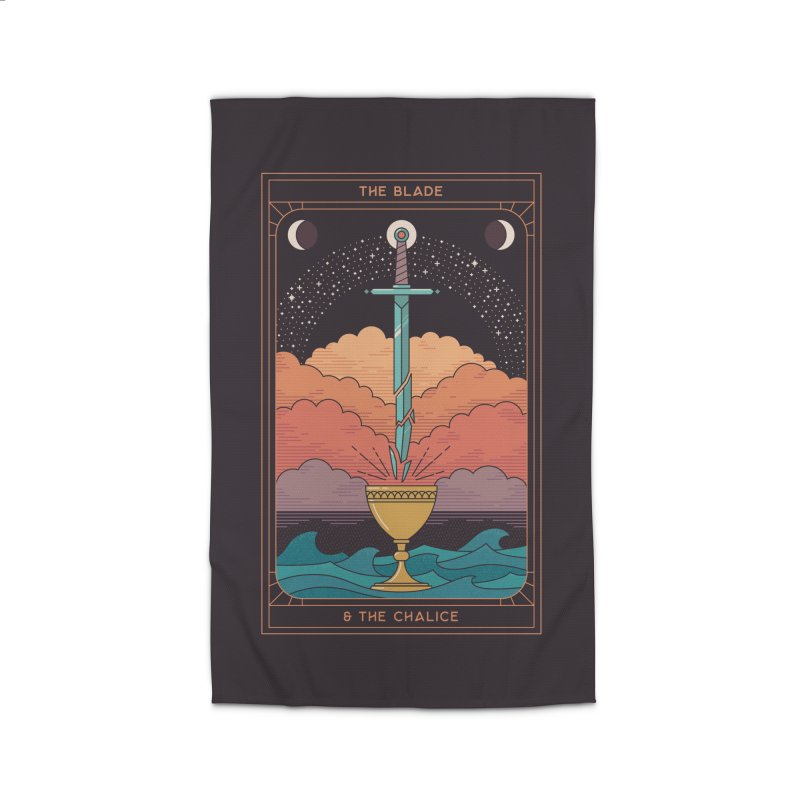 The Blade And The Chalice Home Rug by thepapercrane's shop
